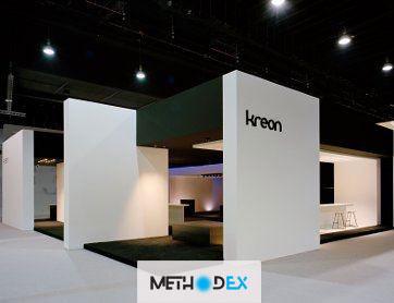نوع دوم طراحی غرفه نمایشگاه با سازه تتریس