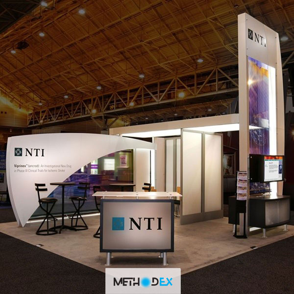 طراحی غرفه نمایشگاه با سازه تتریس
