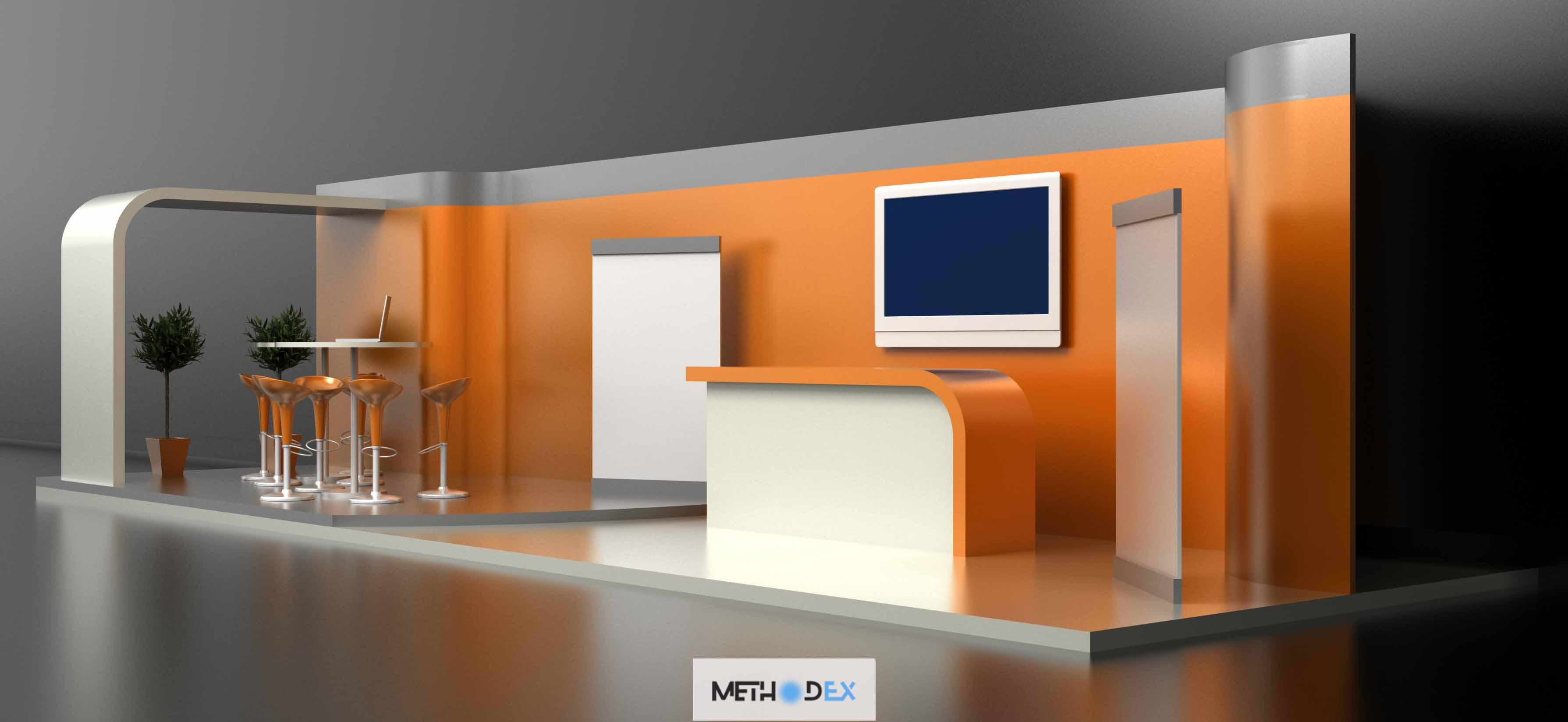 طراحی مدرن غرفه نمایشگاه